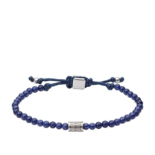 Fossil Vintage Casual Blue Beaded Bracelet JA6885040