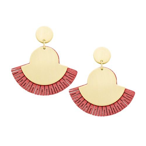 Fossil Fan Coral Earrings Ja6940710 Jewelry - JA6940710-WSI
