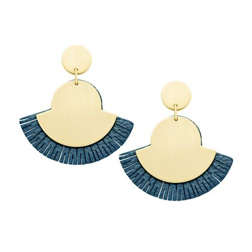 Fossil Fan Indigo Blue Earrings JA6942710