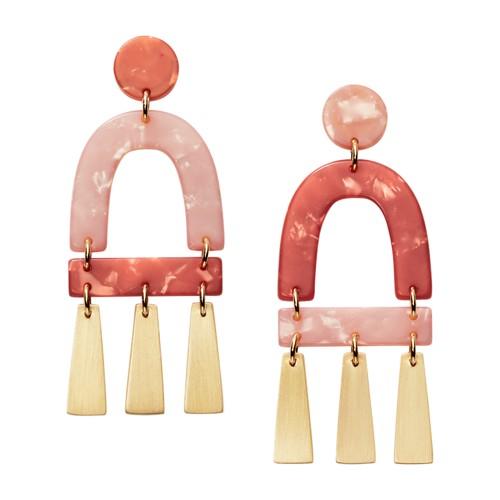 fossil Terracotta-Inspired Acetate Chandelier Earrings JA6959710