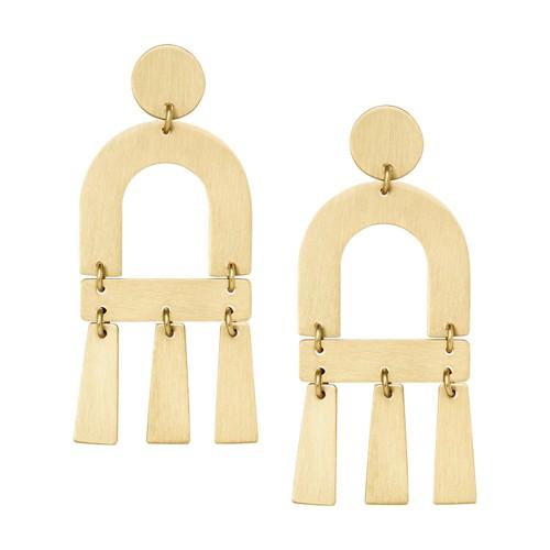 fossil Brushed Brass Chandelier Earrings JA6960710