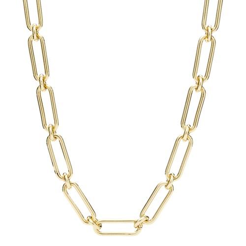 fossil Link Gold-Tone Brass Necklace JA6971710
