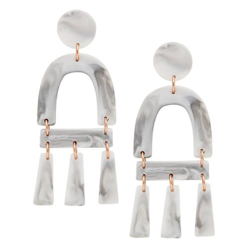 Fossil Marble-Inspired Acetate Chandelier Earrings JA6977791