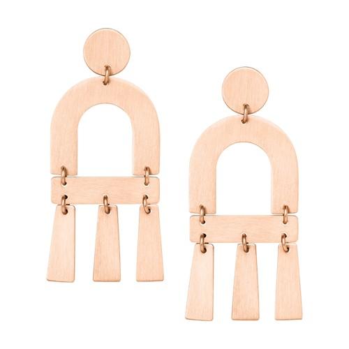 Fossil Rose Gold-Tone Brass Chandelier Earrings JA6978791