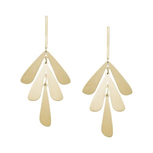 fossil Floral Gold-Tone Brass Earrings JA6987710