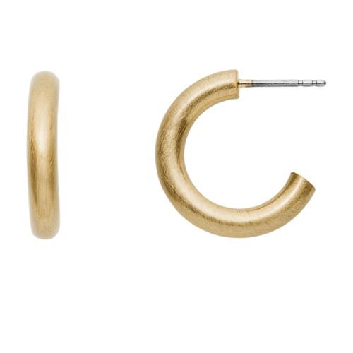 fossil Gold-Tone Brass Hoops JA6991710