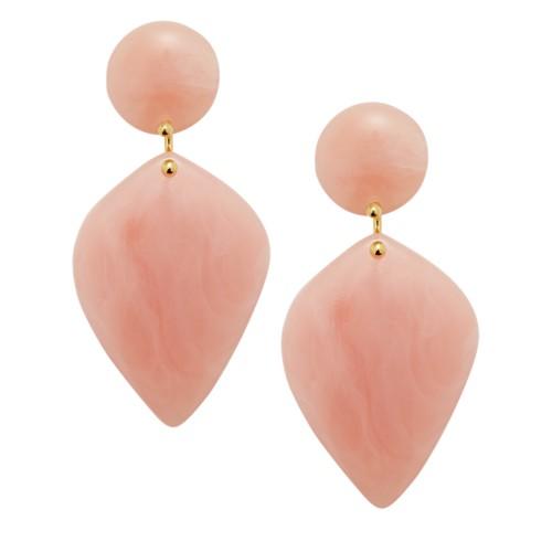 fossil Teardrop Pink Resin Earrings JA6998710
