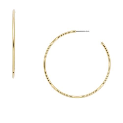 fossil Gold-Tone Brass Hoops JA6999710