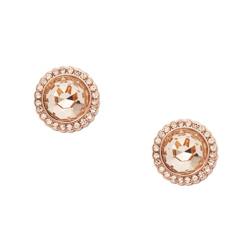Round Rose Gold-Tone Brass Studs JA7010791