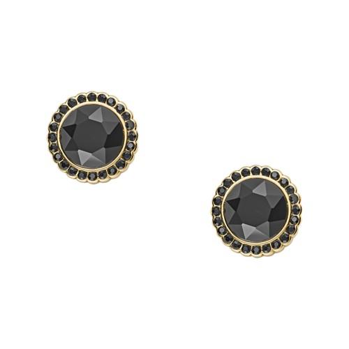 Fossil Round Gold-Tone Brass Studs  jewelry JA7011710