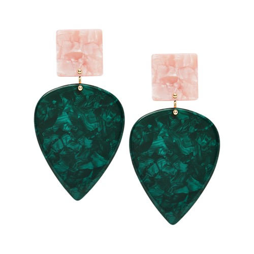 Teardrop Hunter Green Earrings JA7015710