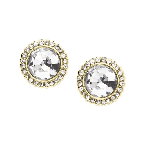 Fossil Round Gold-Tone Brass Studs  jewelry JA7019710