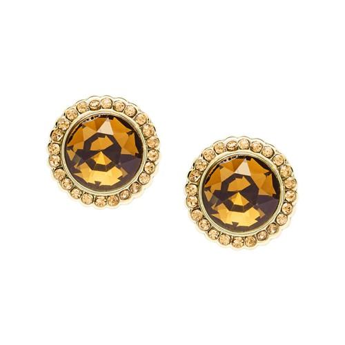 Fossil Round Gold-Tone Brass Studs  jewelry JA7020710