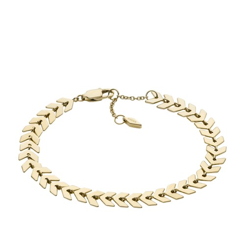 Fossil Gold-Tone Brass Chain Bracelet  jewelry GOLD