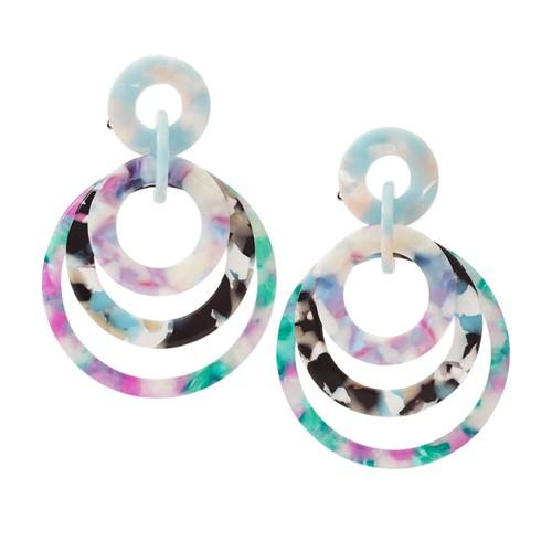 Dark Violet Acetate Earrings JA7034040