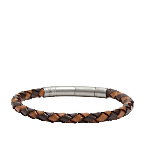 fossil Braided Bracelet - Brown JF00509797