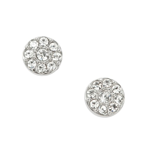 Fossil Disc Silver-Tone Studs JF00828040