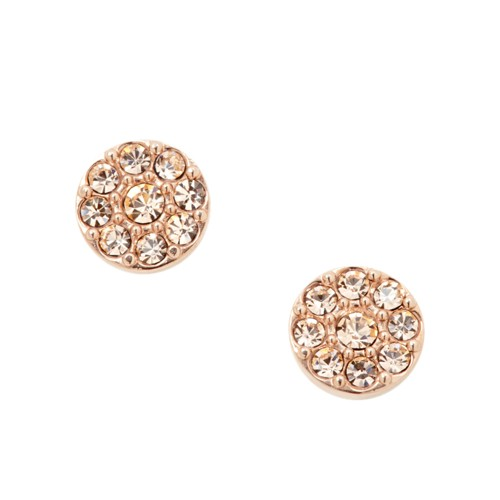 Fossil Disc Rose-Tone Studs JF00830791