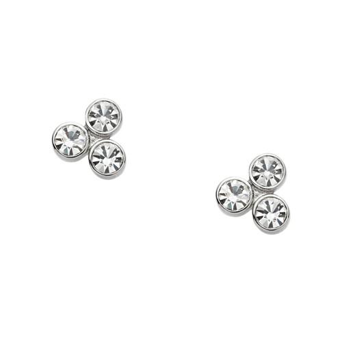 Fossil Dot Silver-Tone Earrings Jf01439040