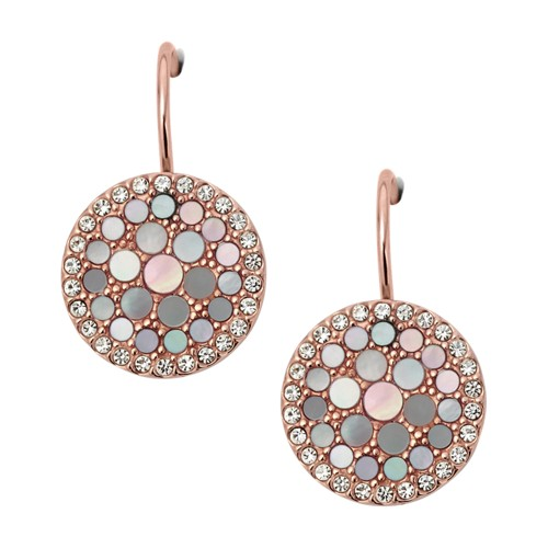 Fossil Disc Drop Earrings JF01737791