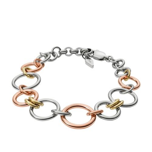 Fossil Tri-Tone Circle Bracelet JF01821998