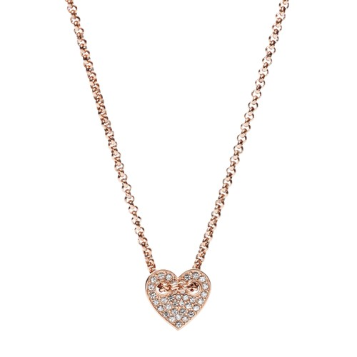 Fossil Heart Necklace Jf02284791