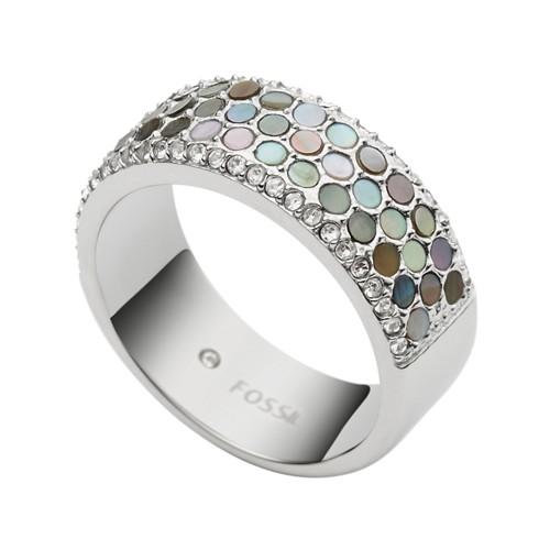 Fossil Vintage Glitz Crystal Ring Jf023130405