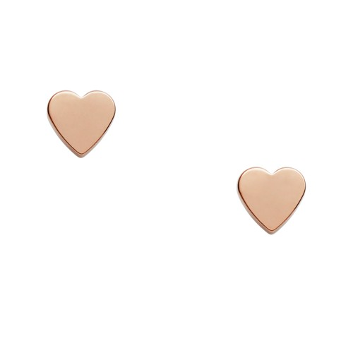 Fossil Rose Gold-Tone Heart Studs JF02402791
