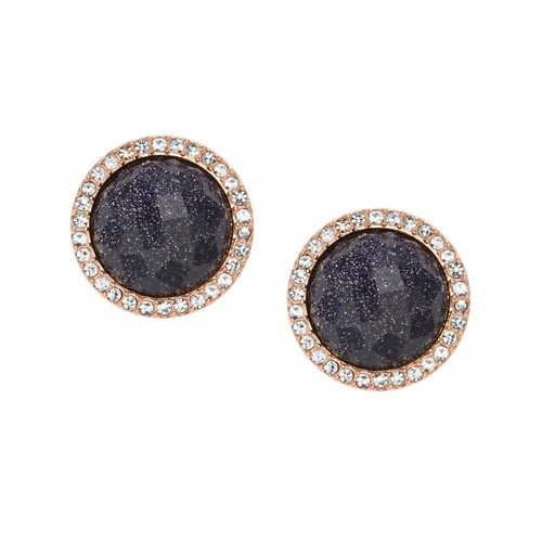 Fossil Shimmer Glass Stone Studs Jf02497791