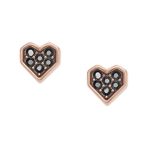 Fossil Glitz Heart Studs JF02555791