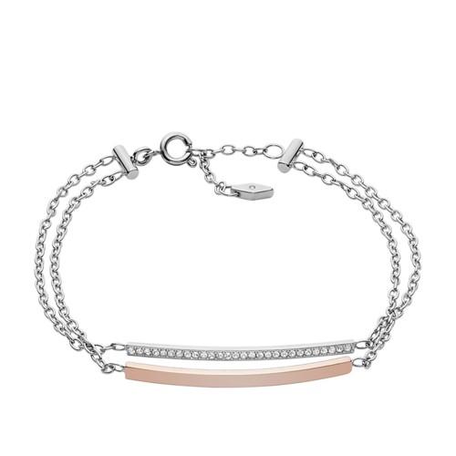 Fossil Glitz Double Bar Bracelet Jf02572998
