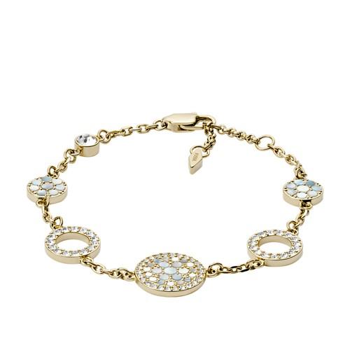 Vintage Glitz Gold-Tone Steel Bracelet JF02602710