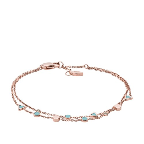 Turquoise Double Chain Bracelet JF02642791