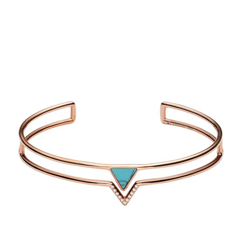 Turquoise Triangle Open Cuff