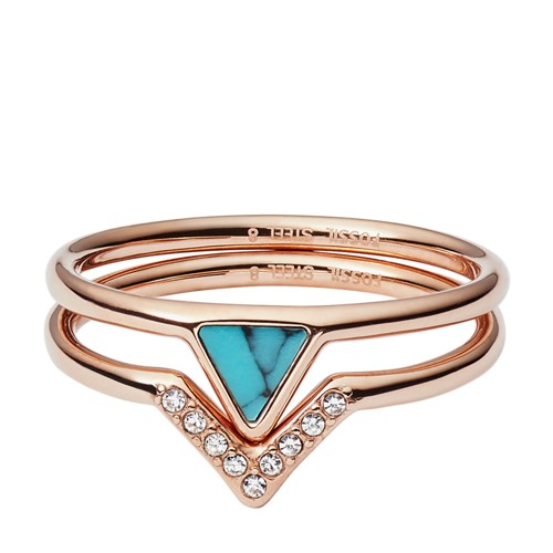 Fossil Turquoise Stacked Ring JF026457915.5