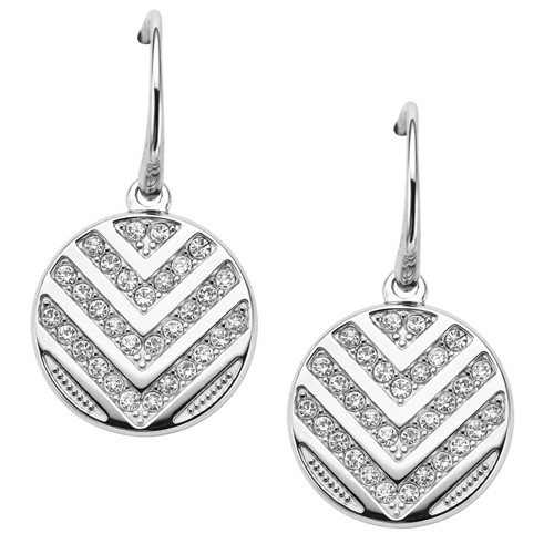 Fossil Chevron Glitz Drop Earrings JF02668040