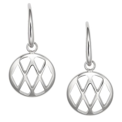Fossil Diamond-Shaped Disc Drop Earrings Jf02722040