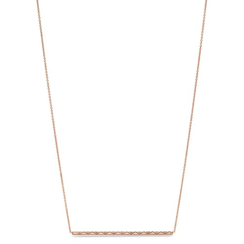 Fossil Diamond-Etched Bar Necklace Jf02735791