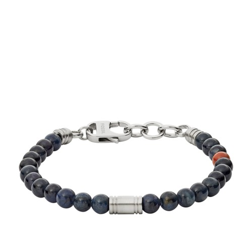 Fossil Vintage Casual Blue Beaded Bracelet JF02756040