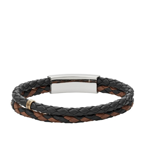 Fossil Vintage Casual Multi-Strand Leather Bracelet JF02758998