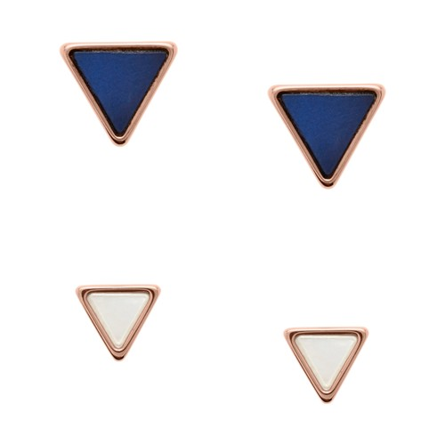Fossil Triangle Duo Studs Set Jf02764791