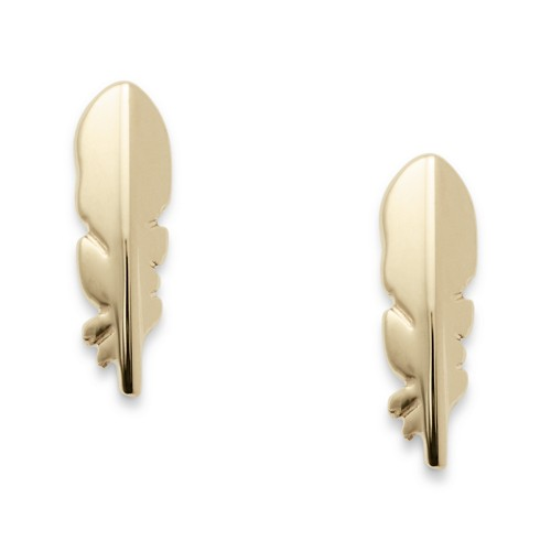 Fossil Feather Studs Jf02772710