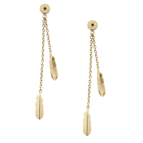 Fossil Feather Drop Ear Jackets Jf02774710