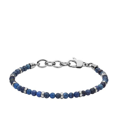 Fossil Vintage Casual Blue Beaded Bracelet JF02821040