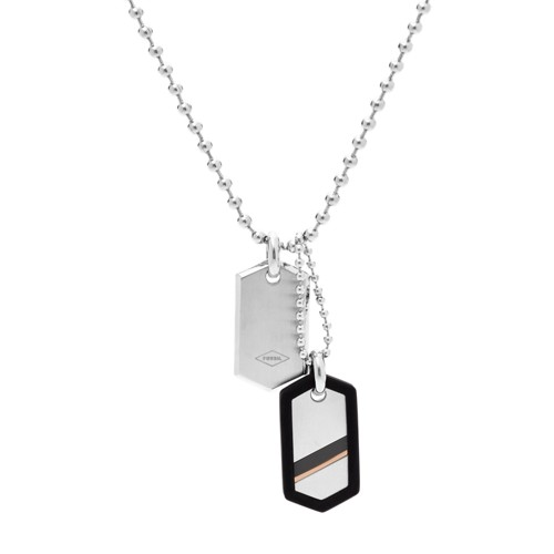 Fossil Dog Tag Steel Necklace JF02824040