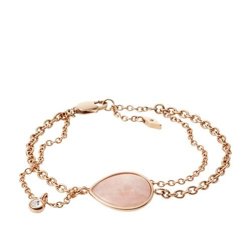 Fossil Teardrop Rose Quartz Bracelet JF02839791