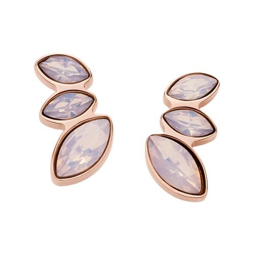 Fossil Navette Pink Glass Earrings JF02843791