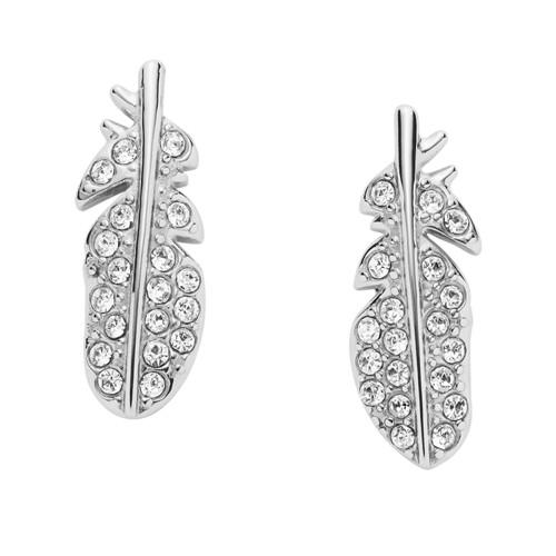 Fossil Feather Glitz Steel Earrings Jf02849040