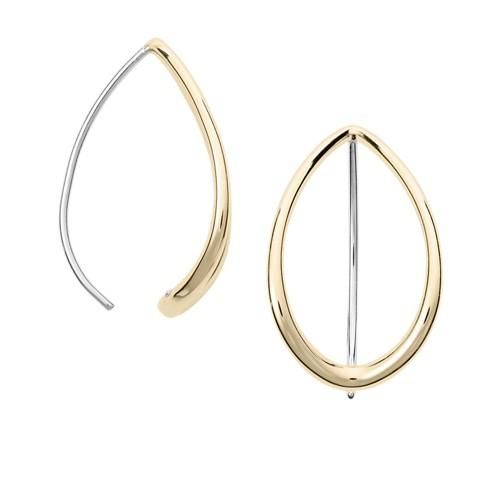 Fossil Teardrop Gold-Tone Steel Earrings Jf02860710