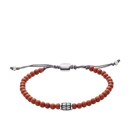 Fossil Red Semi-Precious Bracelet JF02889040